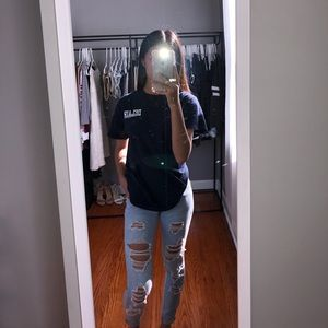 Encore Jeans | Distressed Ankle Jeans